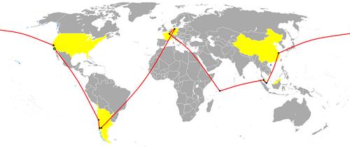 The_Amazing_Race_16_Map
