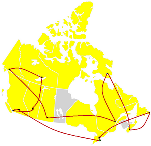 The_Amazing_Race_Canada_map